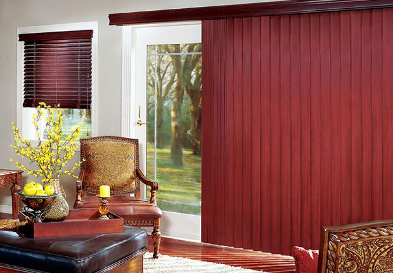 Vertical Blinds Can Mimic Soft Drapery Red Star Paint